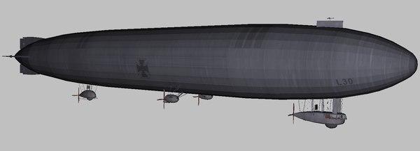 3D world war zeppelin