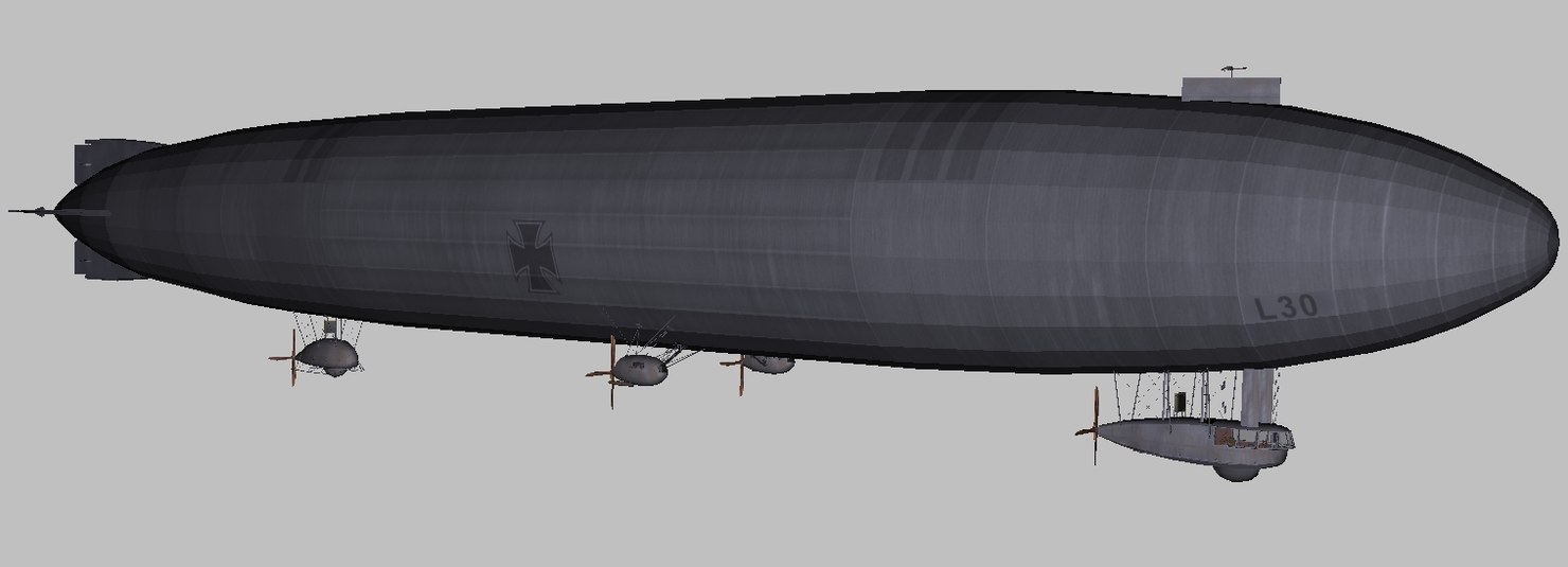 3D world war zeppelin