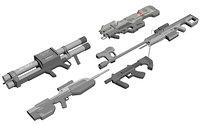 halo guns 3D