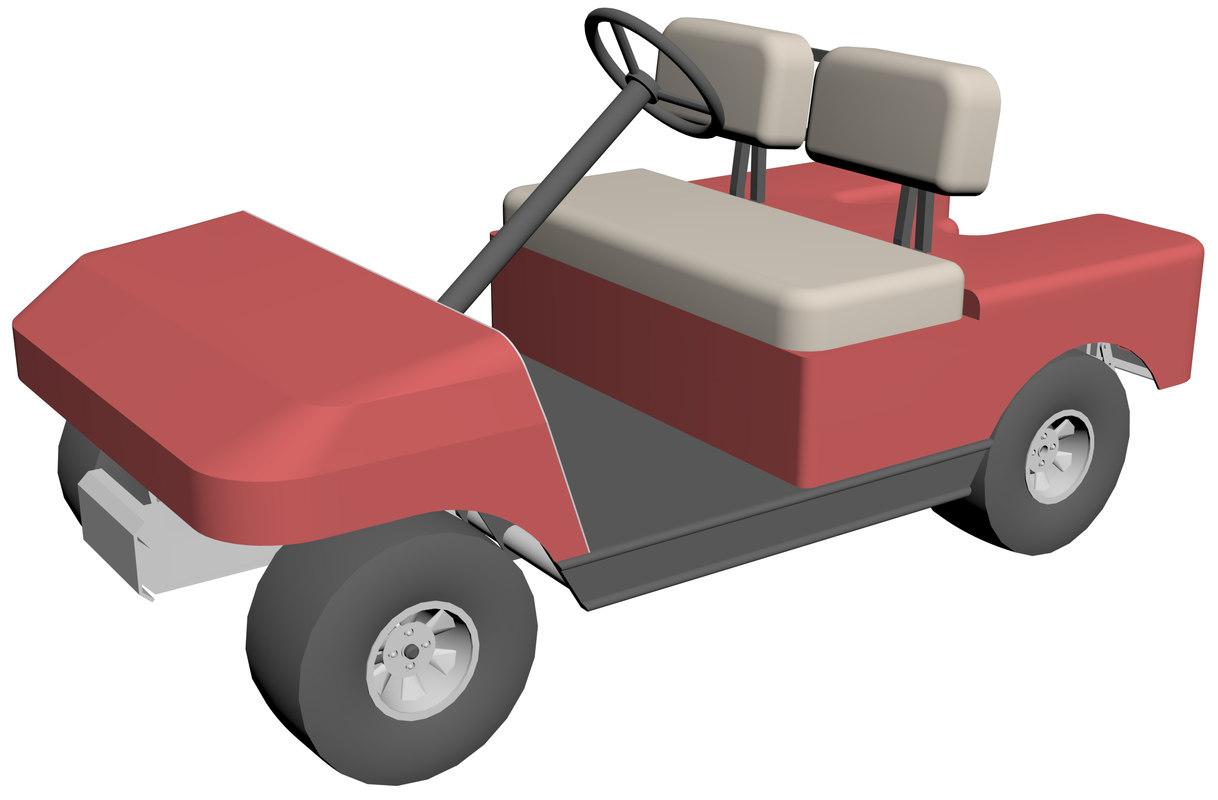 golf electric car 3D model