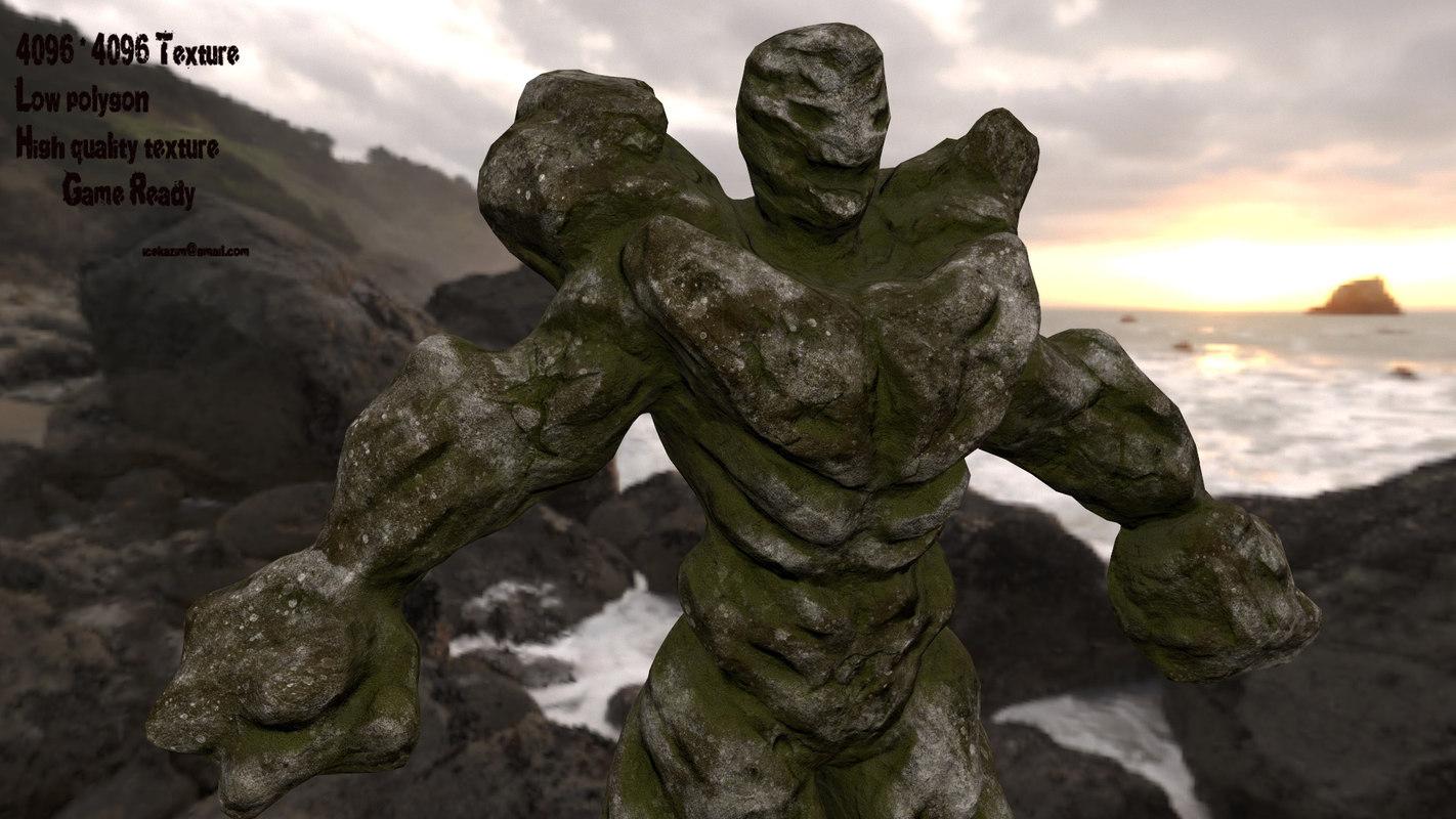 monster rock 3D model