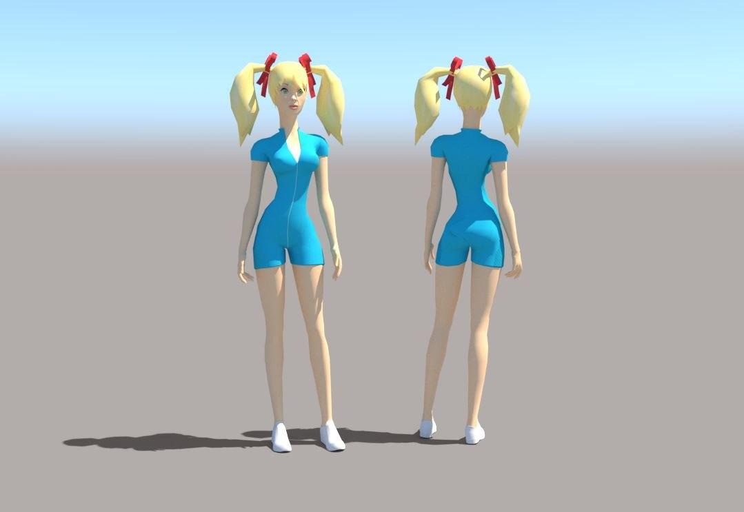 3D girl woman female