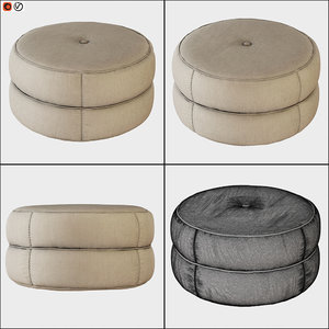 pouf kazar 3D model