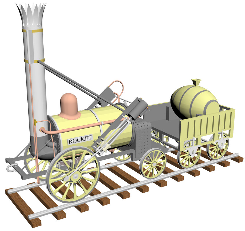 3D stephenson s rocket locomotive
