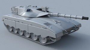 3D tank modeled merkava