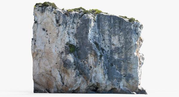 3D mediterranean cliff