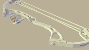 3D compound bow model