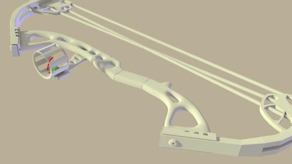 3D compound bow model