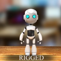 3D robot rigged character model