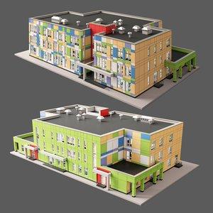 kindergarten 3D model