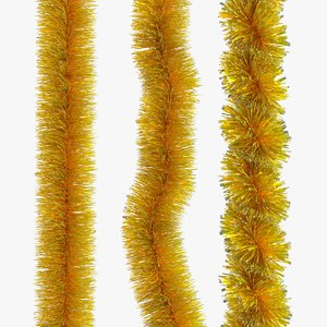 3D christmas tinsel model