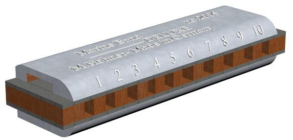 3D harmonica marine band deluxe