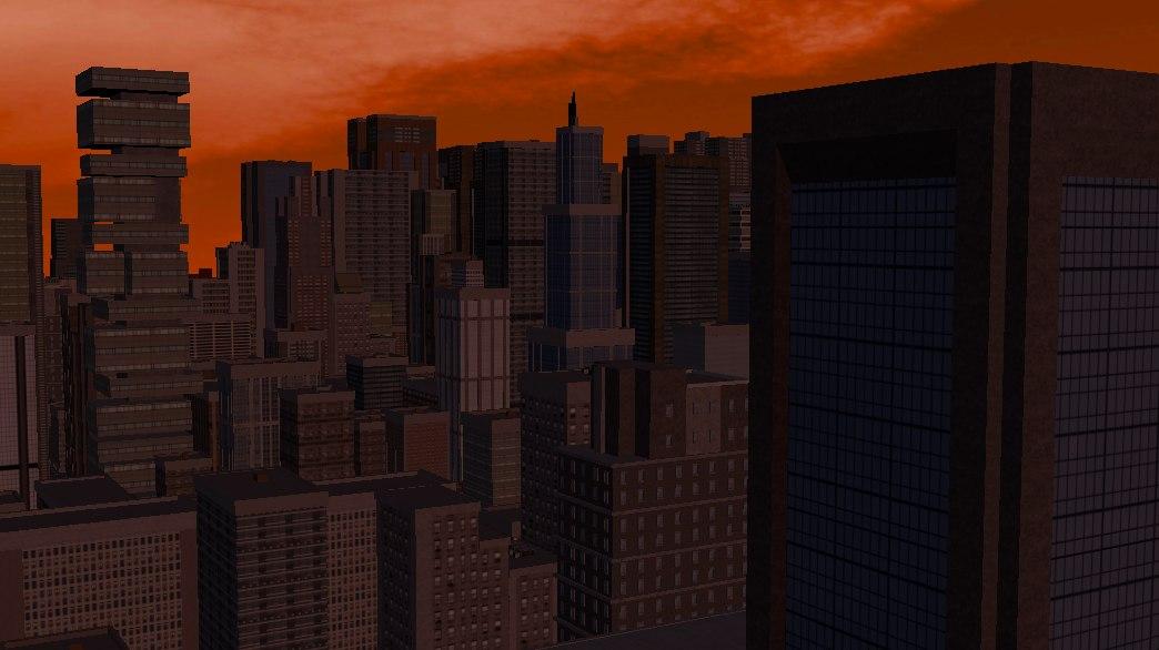 3D city streets model