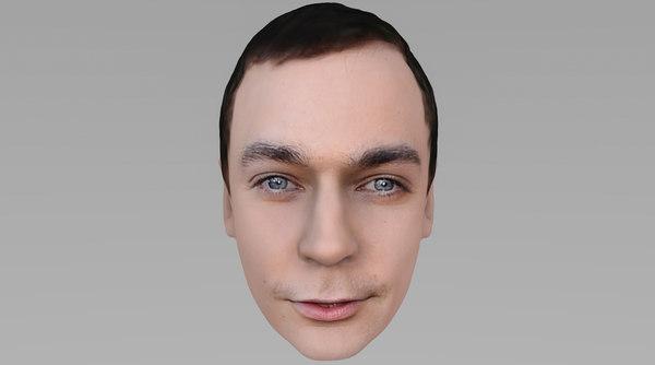 head sheldon big bang 3D model