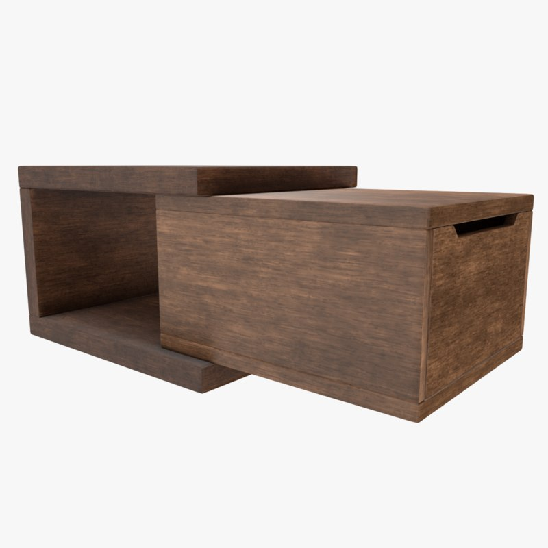 3D coffee table double