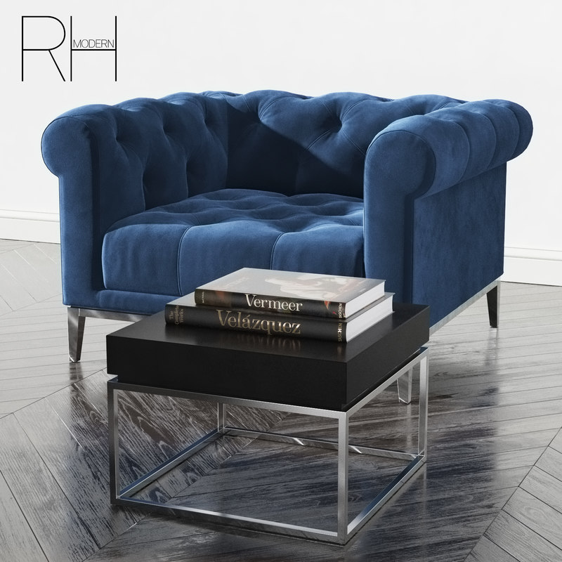 Rh Italia Chesterfield Chair 3D Model