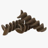 wheat spiral pasta 3D model