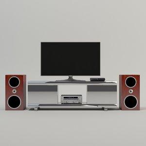 3D model home entertainment