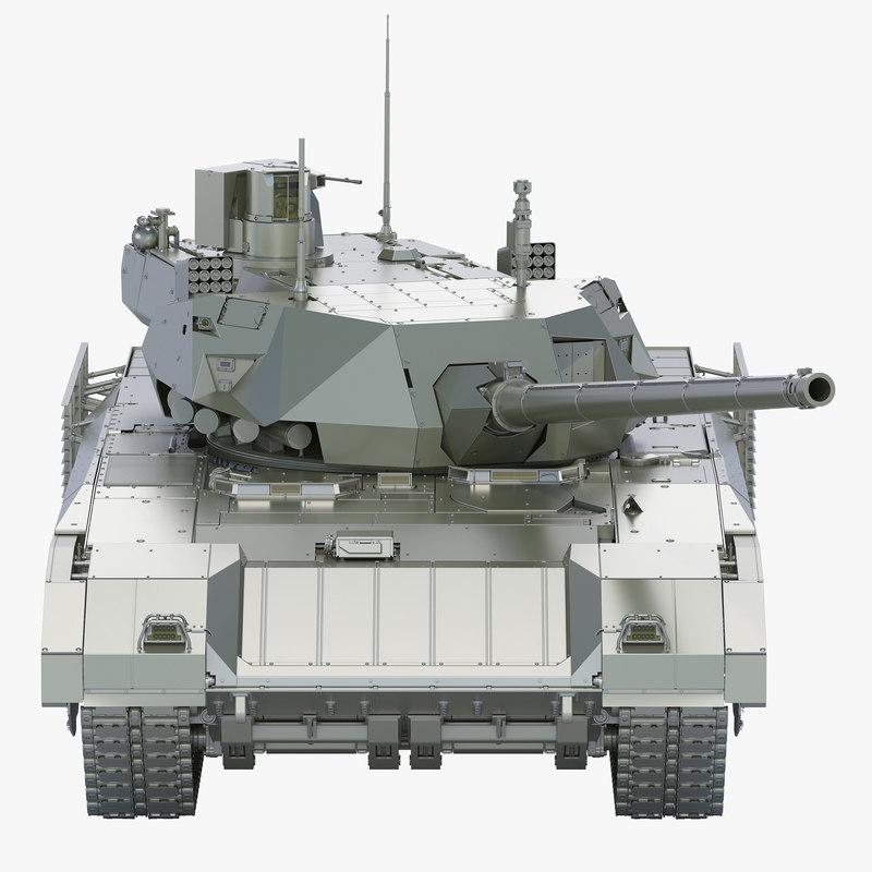 3D t-14 armata tank