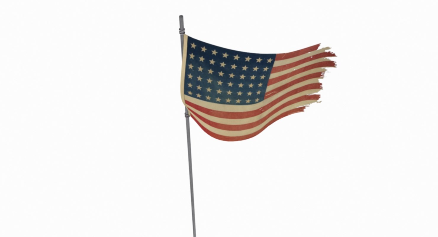 flag iwo jima battle 3D