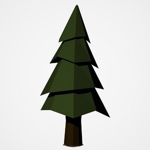 pine tree uv mapped 3D