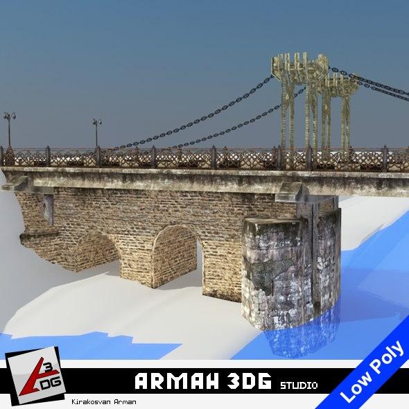 3D bridge road stone