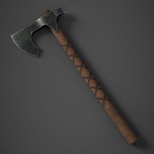 steel viking axe 3D