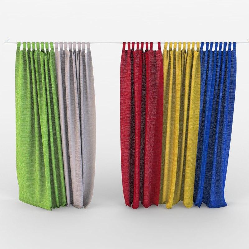 curtains nursery textiles 3D model