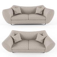 trance quantum sofa stainless steel 3D model