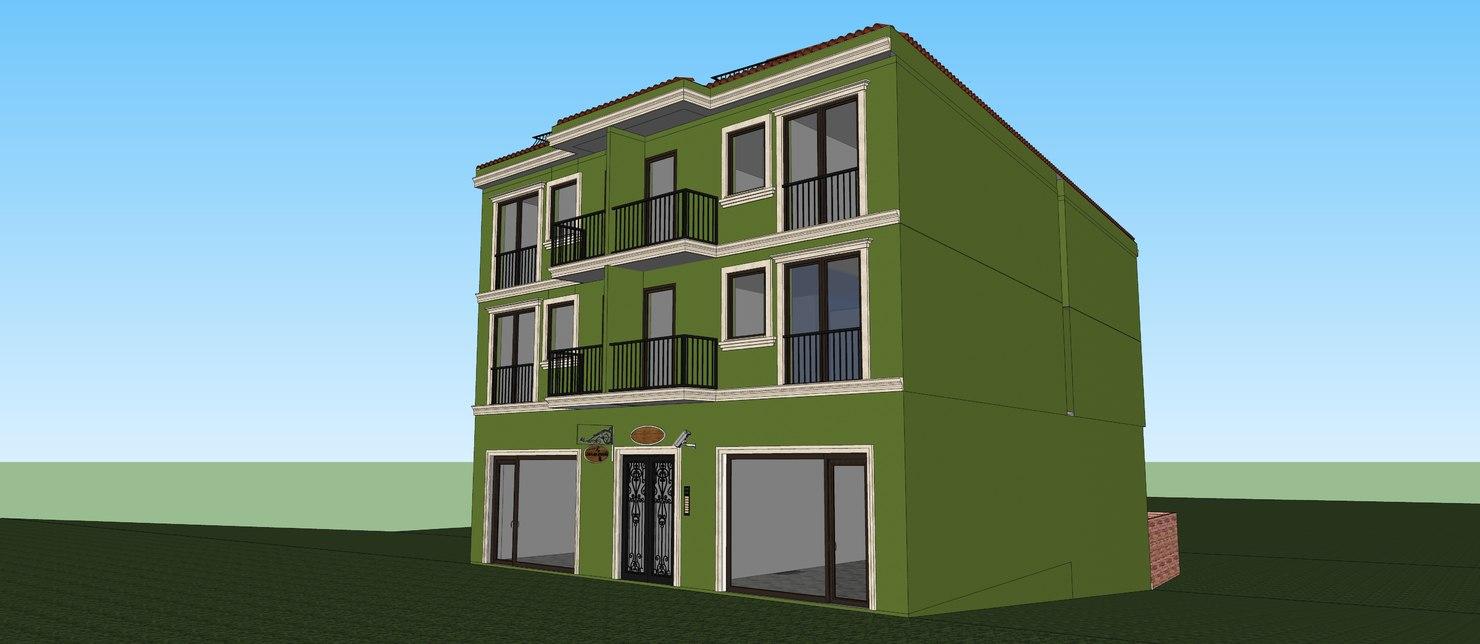 old house skp model