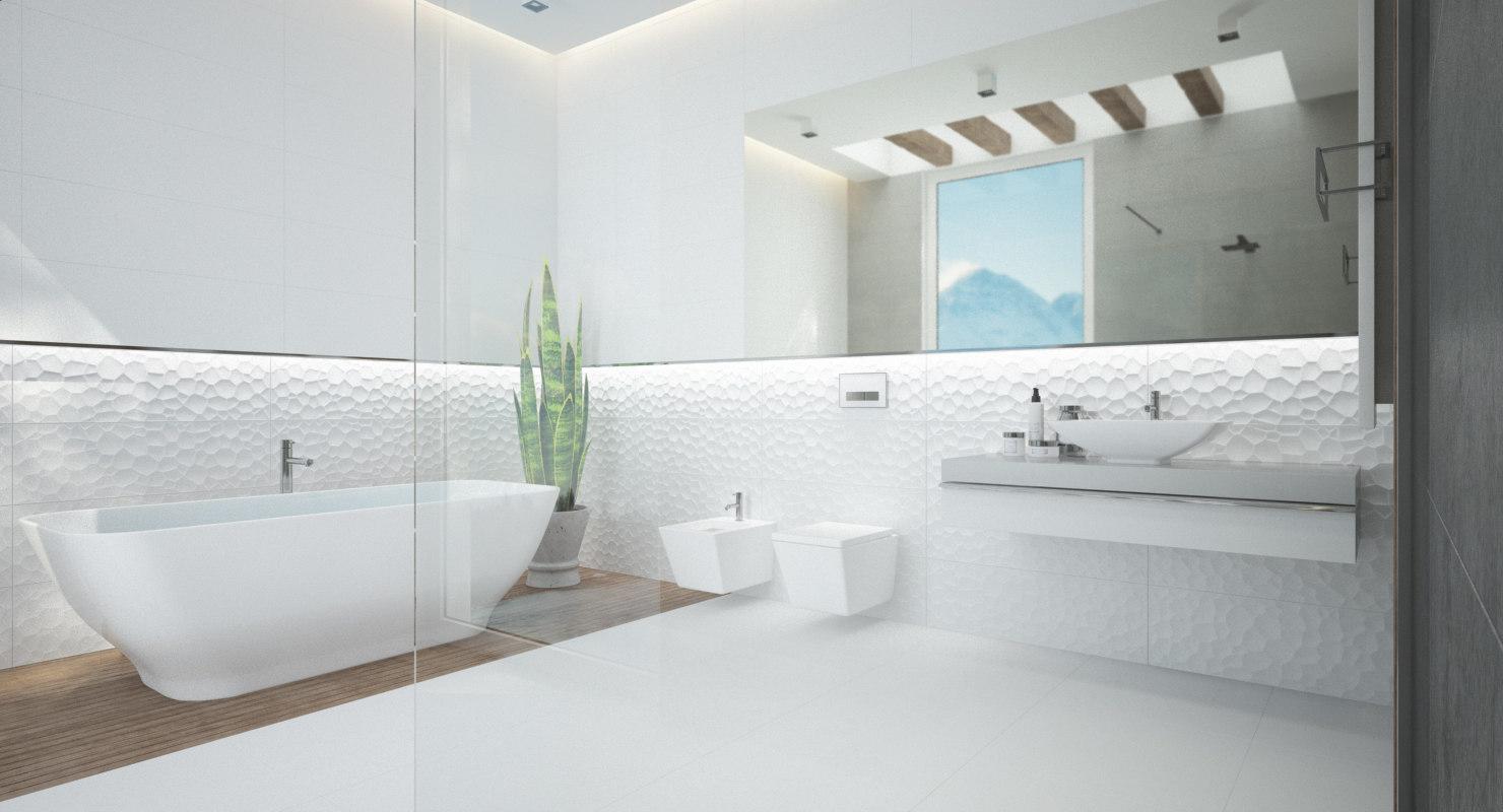 3D scene modern bathroom interior - TurboSquid 1209045