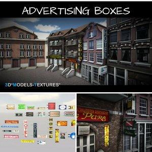 houses boxes 3D model