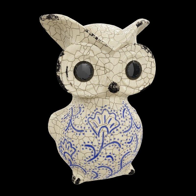3D ceramic owl