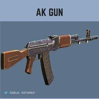 3D ak gun