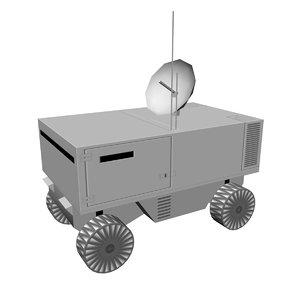 sci-fi lunar 3D model