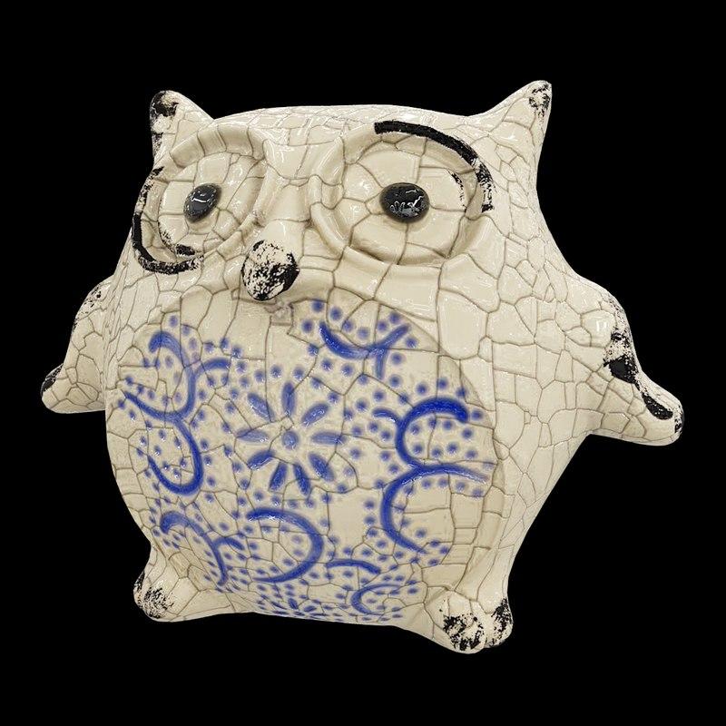 ceramic owl 3D