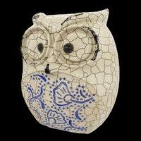 3D ceramic owl model