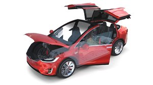 3D tesla x interior chassis