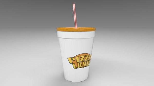 3D model refreshing soda cup
