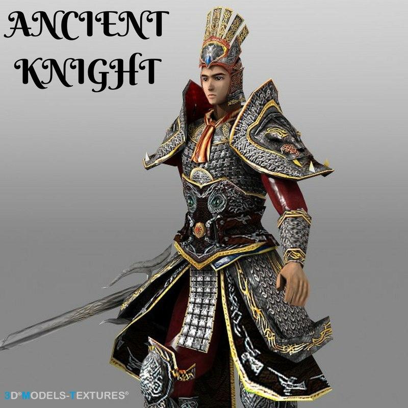 ancient knight 3D model