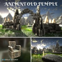 ancient old temple 3D model