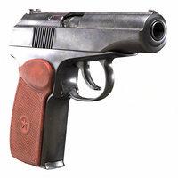 Makarov Pistol old & dirty (PM - PBR game model)