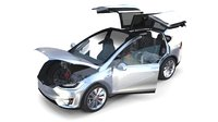 Tesla Model X Silver with interior and chassis