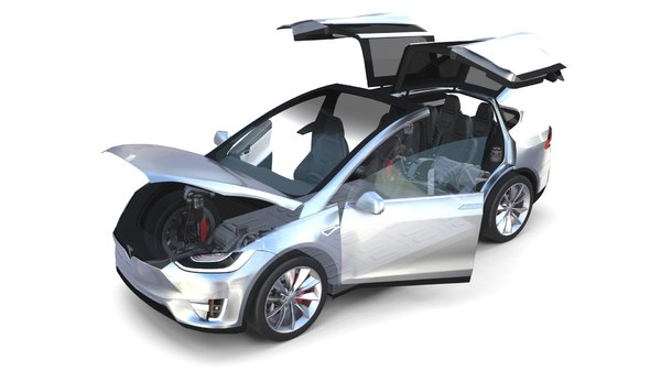 tesla x interior chassis 3D