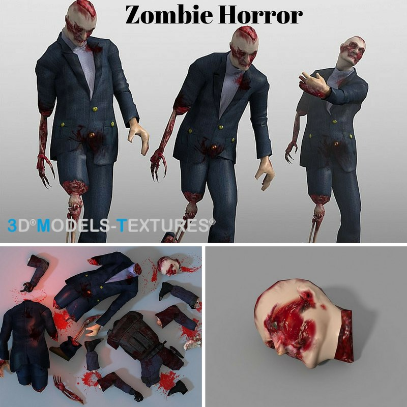 zombies blood 3D model