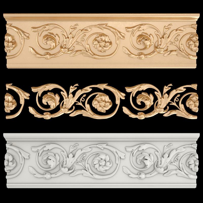 3D frieze gold