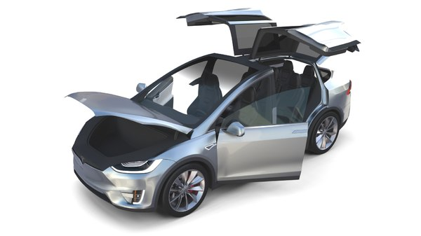 tesla x interior modeled model