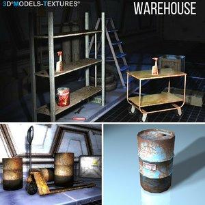 3D model barrels storage