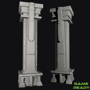 3D column stone