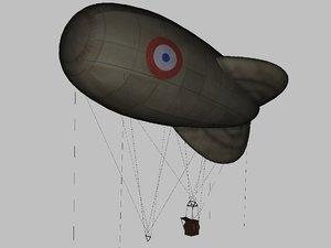 allied observation balloon model